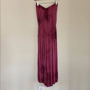 Urban Outfitters pink/purple Strapless Jumpsuit